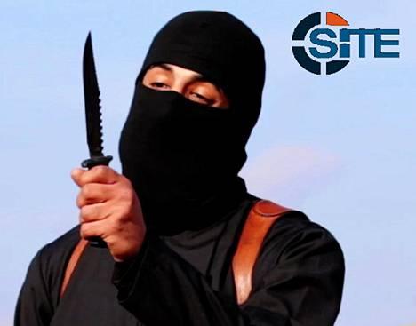 Mohammed Emwazi, alias Jihadi John, esiintyi Isisin propagandavideolla, jolla surmattiin panttivanki. Kuvan julkaissut SITE on amerikkalainen ääriryhmiä verkossa tarkkaileva järjestö.