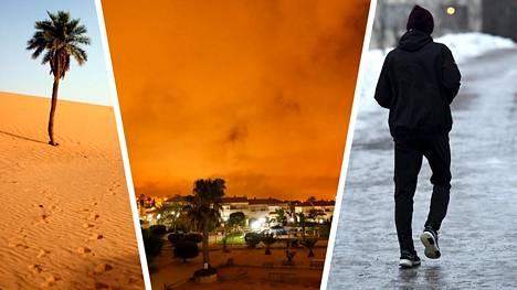 Pohjois-Eurooppaa lähestyy hiekkapilvi, joka on saanut alkunsa Saharassa. Voiko Suomi saada hiekoitusta taivaalta?