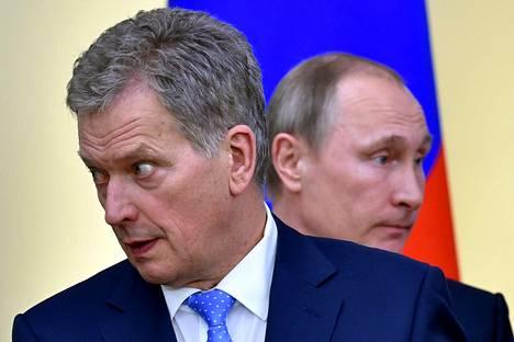 Presidentit Sauli Niinistö ja Vladimir Putin tapasivat Moskovassa 22. maaliskuuta.