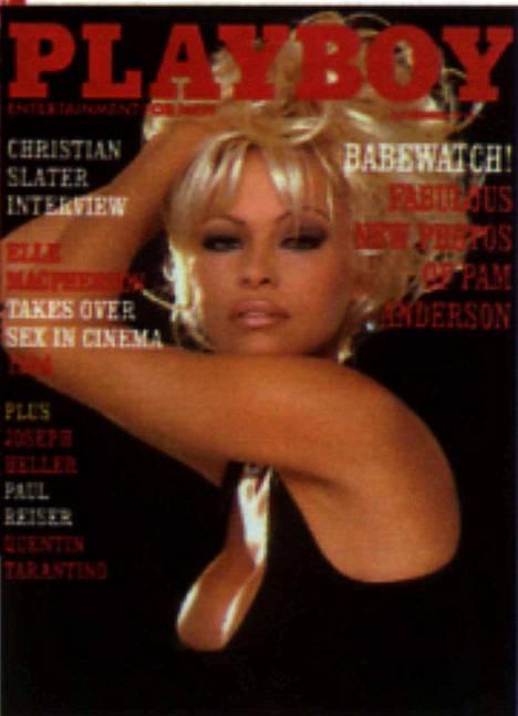 1994: Baywatchista väännettin Babewatch kun Pamela poseerasi Playboyn kannessa.