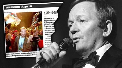 Miika Juntunen näpäytti vastustajaa Erkki Junkkarisen tunnetulla valssilla.