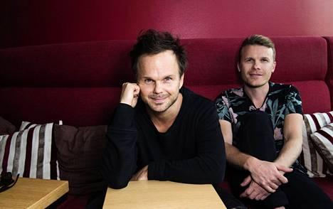 The Rasmus -yhtye aikoo silti tuhoalueelle. Kuvassa solisti Lauri Ylönen ja rumpali Aki Hakala.