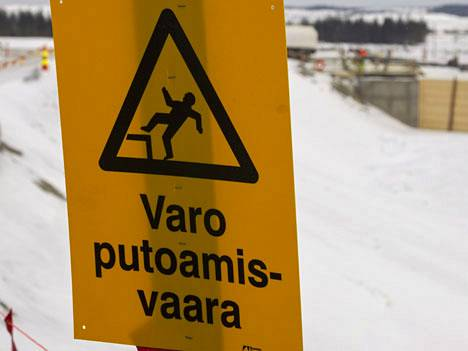 Kyltti Talvivaaran kaivoksella Sotkamossa.