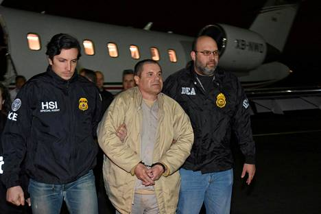 El Chapo jäi kiinni vuonna 2016 ja hänet luovutettiin Yhdysvaltoihin vuonna 2017.