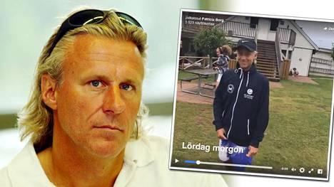 Björn Borgin poika osoitti tennistaitonsa viikonloppuna Ruotsissa.