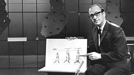 Meteorologi Paavo Salmensuu kuvattuna vuonna 1967.