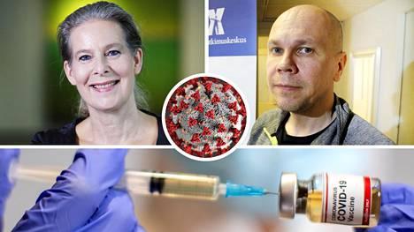 THL:n ylilääkäri Hanna Nohynek ja Tampereen yliopiston Rokotetutkimuskeskuksen johtaja Mika Rämet.