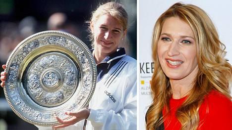 Steffi Graf oli tenniksen supertähti 1980- ja 1990-luvuilla. Uransa jälkeen hän on keskittynyt mm. hyväntekeväisyystyöhön.