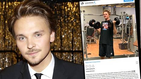 Roope Salminen kuittaili Instagramissa fitness-intoilijoille.