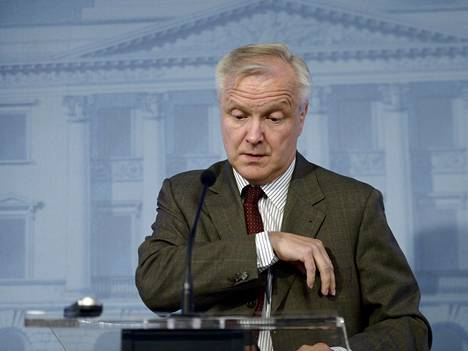 Elinkeinoministeri Olli Rehn (kesk) kertoi eilen Talvivaaran kaivosta koskevista hallituksen suunnitelmista.