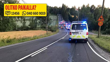 Onnettomuus sattui Maisalantiellä Tuusulassa.
