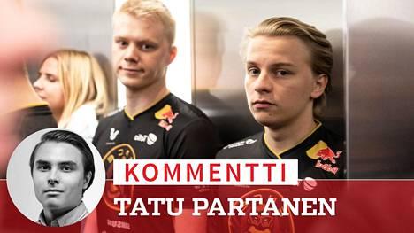 Jani Jussila (vasemmalla) ja Aleksi Virolainen pelasivat ENCEssä rinnakkain 17 kuukautta.