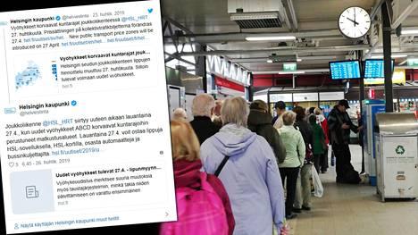 Matkalippujen uudistus aiheutti jonon Itäkeskuksen metroaseman lippuautomaatilla perjantaina aamulla.