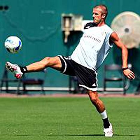 David Beckhamin nilkka kesti ainakin harjoituksissa.