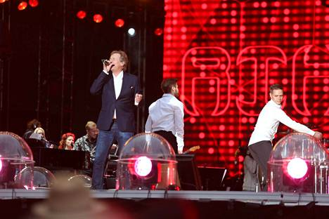 Riki Sorsa esiintyi Uuden Lastensairaalan hyväksi järjestetyssä Live Aid -konsertissa viime kesäkuussa.