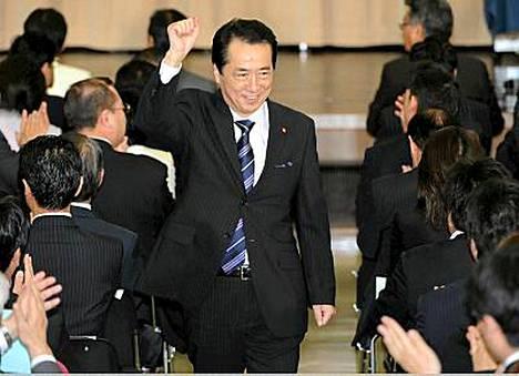 Naoto Kan lupaa kohentaa Japanin taloutta.