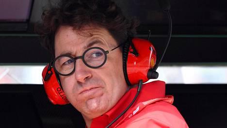 Mattia Binotto ei halua Max Verstappenia italialaistalliin, koska Ferrarilla on jo Charles Leclerc.