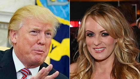 Presidentti Donald Trump on kiistänyt suhteensa pornotähti Stormy Danielsiin.