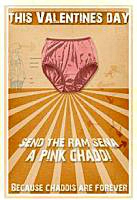 Lähetä Ram Senalle pinkit pöksyt! juliste kehottaa.
