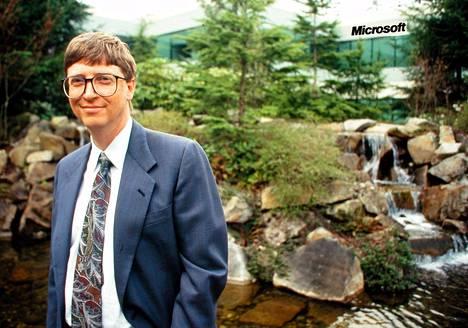 Kuvassa nuori menestyjä Bill Gates vuonna 1995.