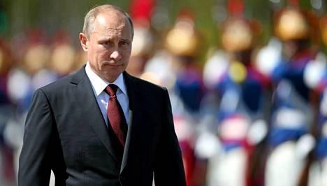 Vladimir Putin ilmoitti, että Venäjä vastaa lännen pakotteisiin. Kuvassa Putin Brasiliassa 14. heinäkuuta.