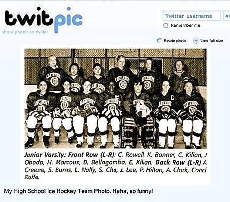 Paris Hilton on kuvassa ylärivissä neljäs vasemmalta.