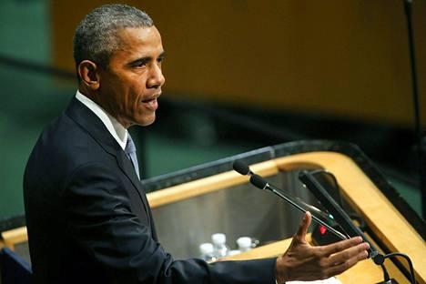 Venäjän presidentti vastasi puheessaan Yhdysvaltain presidentille Barack Obamalle.