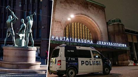 Vastaanottokeskuksissa väitetään kiertävän huolestuttavia viestejä, joissa pyydetään kokoontumaan Kolmen Sepän aukiolle ja Rautatientorille.