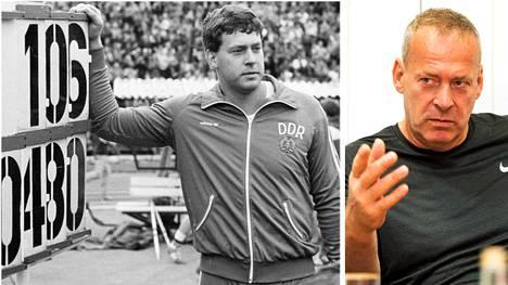 Uwe Hohn heitti maailmanennätyksen vuonna 1984. Nykyään hän toimii keihäsvalmentajana.