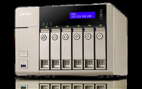 Qnapin valmistamaa TVS-663-verkkotallennin.