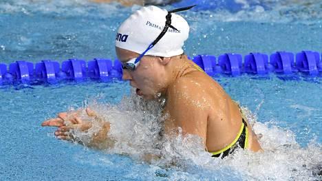 Ida Hulkko viides 50 metrin rintauinnin EM-finaalissa – Ari-Pekka Liukkonen seitsemäs 50 metrin vapaalla