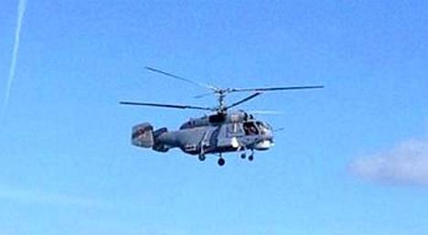 Venäläinen helikopteri kuvattuna Arandalta.