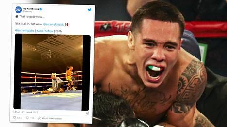Oscar Valdez pääsi juhlimaan WBC-liiton höyhensarjan mestaruutta.