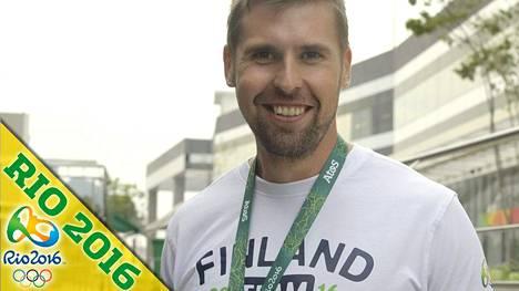 Antti Ruuskanen tapasi mediaa maanantaina Riossa.