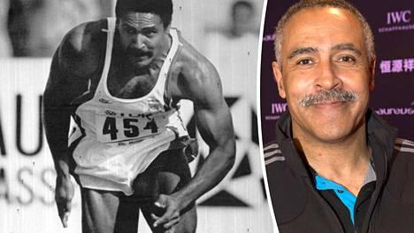 Kymmenottelun entinen ME-mies Daley Thompson täyttää maanantaina 60 vuotta. Mustavalkoinen kuva on Rooman vuoden 1987 MM-kisoista.