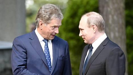 Sauli Niinistö ja Vladimir Putin tapaavat huomenna keskiviikkona Helsingissä.