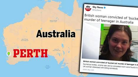 Murha tapahtui Länsi-Australian Perthissä.