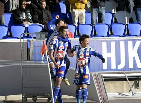 HJK on tottunut juhlimaan IFK Mariehamnia vastaan.