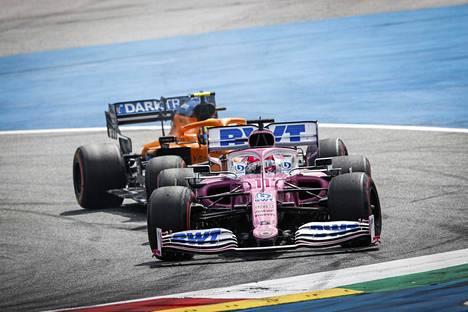 Sergio Perez Steiermarkin GP:ssä viime viikonloppuna.
