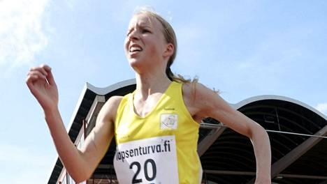 Johanna Peiponen juoksi huippuajan.