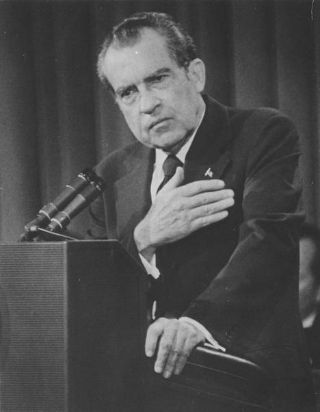 Richard Nixon vuonna 1974.