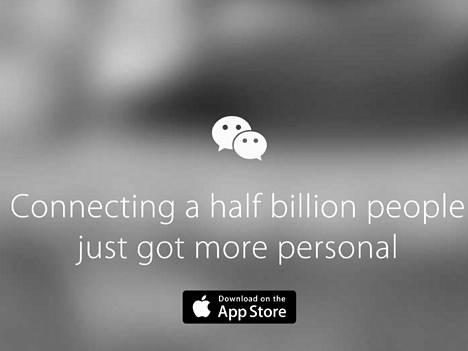 WeChat oli tarjolla App Storessa.