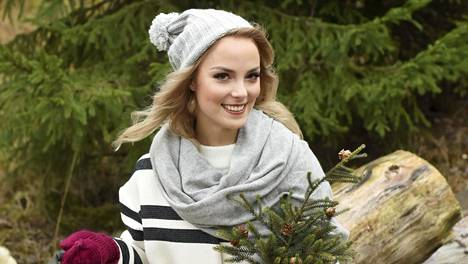 Kiira viettää joulun perheensä kanssa Ylläksellä.