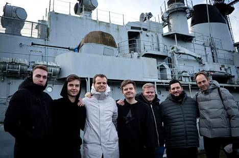 Kasper Hvidt (oikeassa reunassa) ja Astraliksen CS-joukkue kuvattuna tammikuussa 2020.
