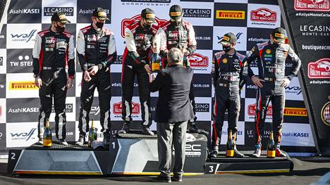Toyotan Sebastien Ogier ja kartturi Julien Ingrassia nousivat korkeimmalle korokkeelle Monte Carlossa.