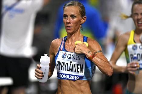 Anne-Mari Hyryläinen onnistui Dohan yössä erinomaisesti.
