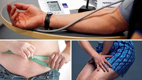 Miesten olisi syytä tarkastella verenpainettaan, mitata vyötärönympärystään ja mennä aina lääkäriin, jos on virtsaamisvaikeuksia.