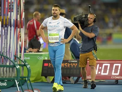 Kuudenteen sijaan oli tyytyminen. Tulos 83,05 ei jättänyt Ruuskaselle hyvää makua Rion olympialaisista.