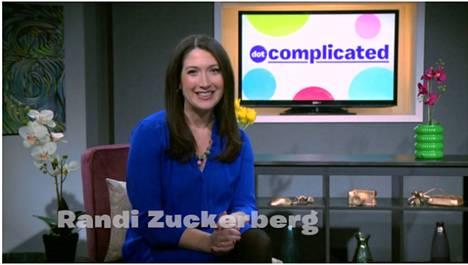 Randi Zuckerberg julkistaa hengästyneesti digitaalisen ajan elämäntyylipalvelun.