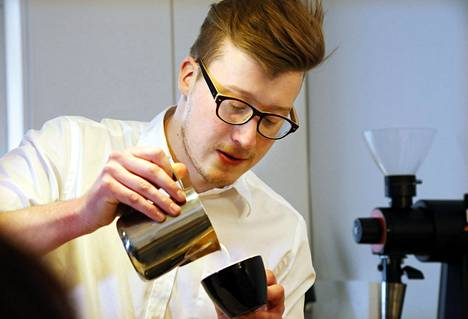 Kalle Freese on menestynyt myös kansainvälisissä baristakilpailuissa.